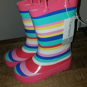 NWT Carter's toddler girl size 8 rain boots